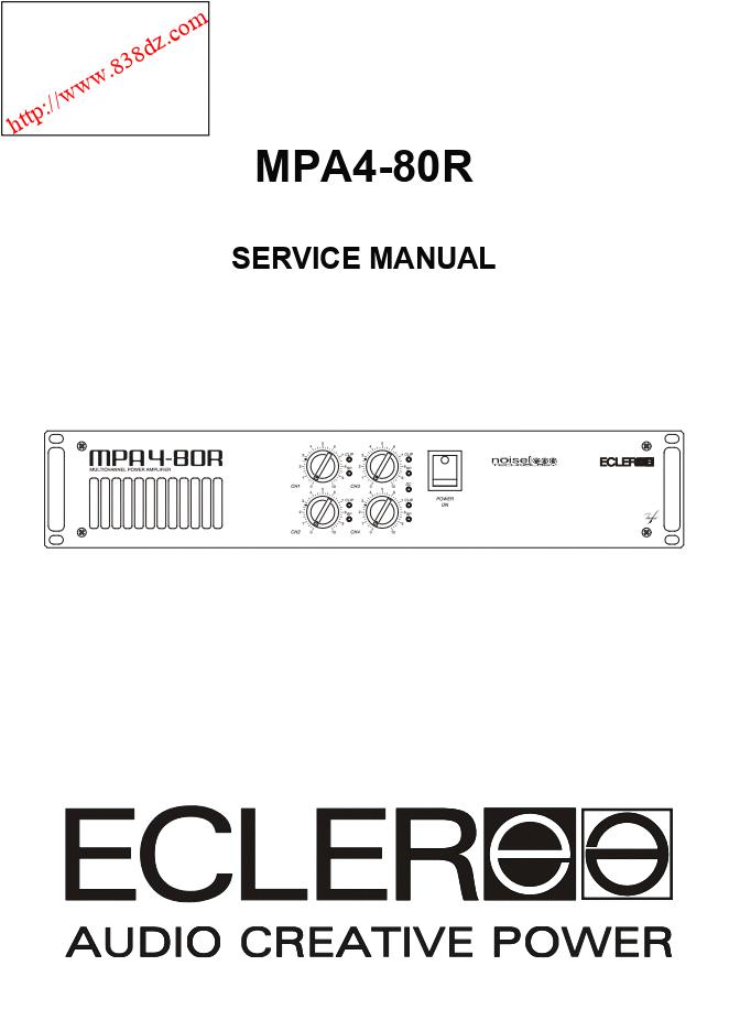ECLER艺格 MPA4-80R功放机维修手册