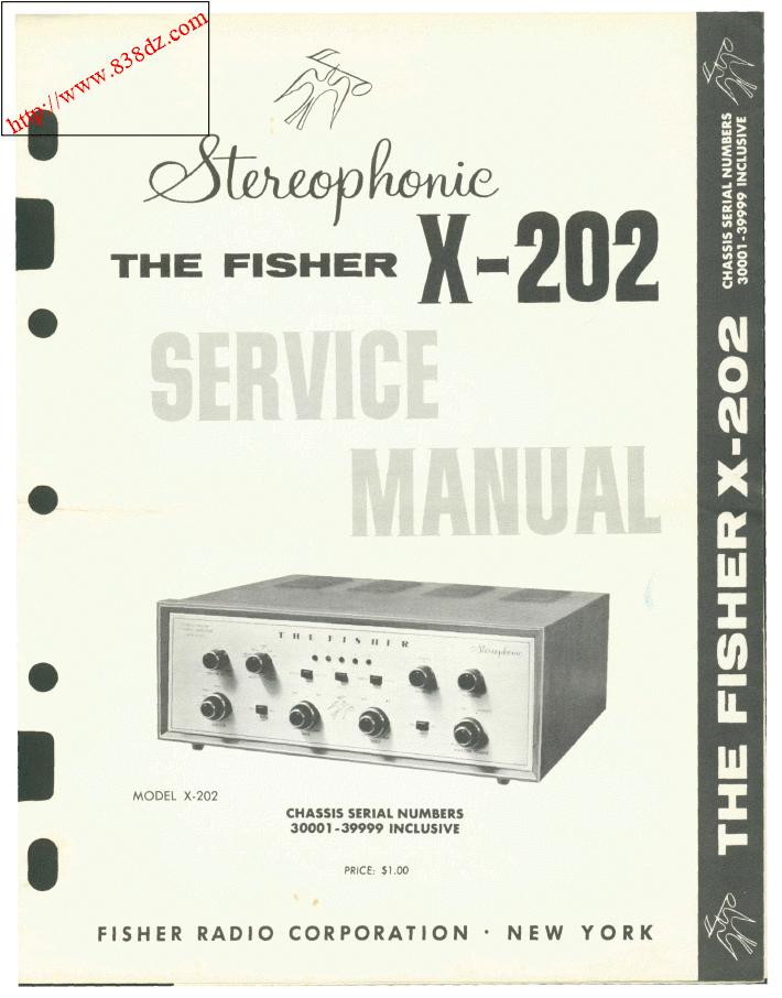 fisher x-202功放30001-39999维修手册