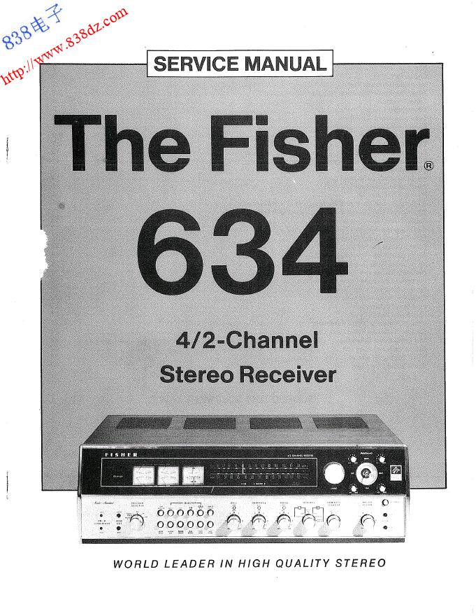 FISHER飞燕634收扩音机1974年维修手册