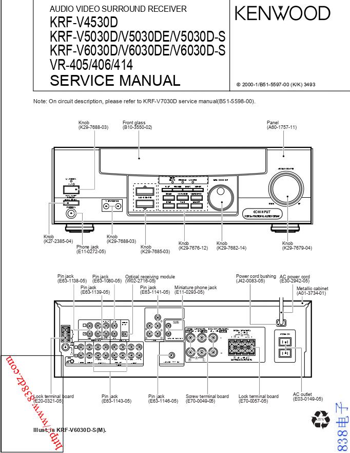 KENWOOD建伍KRF-V6030D KRF-V6030DE KRF-V6030D-S功放维修手册