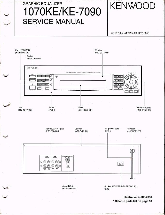 KENWOOD建伍KE-7090 1070KE均衡器维修手册