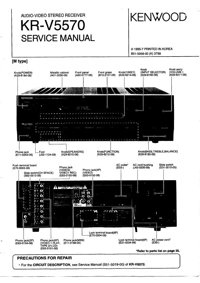 kenwood建伍 KR-V5570功放维修手册