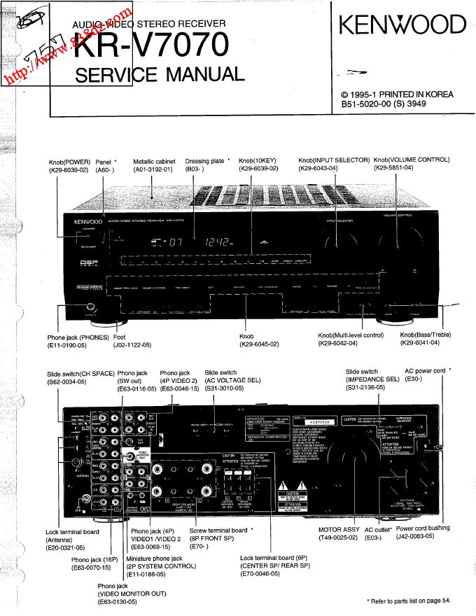 kenwood建伍KR-V7070发烧功放维修手册