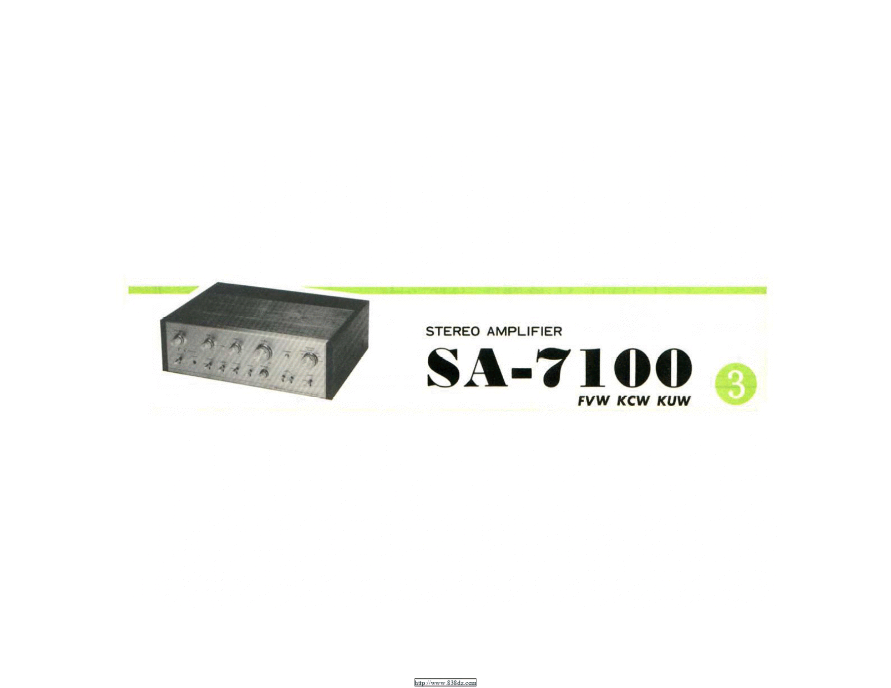 pioneer先锋 SA-7100功放维修手册