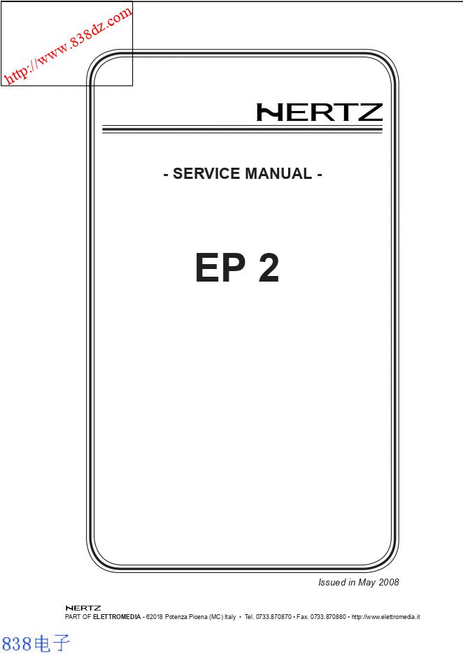 HERTZ赫兹 EP2汽车功放电路图