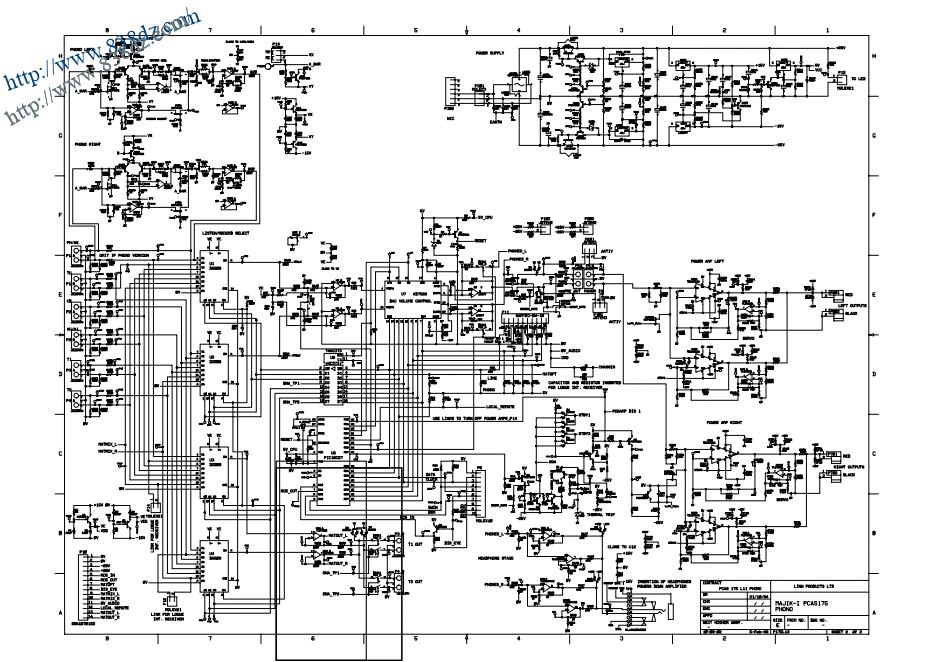 linn PCAS175音响功放电路 维修手册