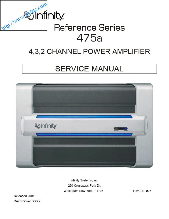 infinity 燕飞利仕reference-series 475A功率放大器维修手册