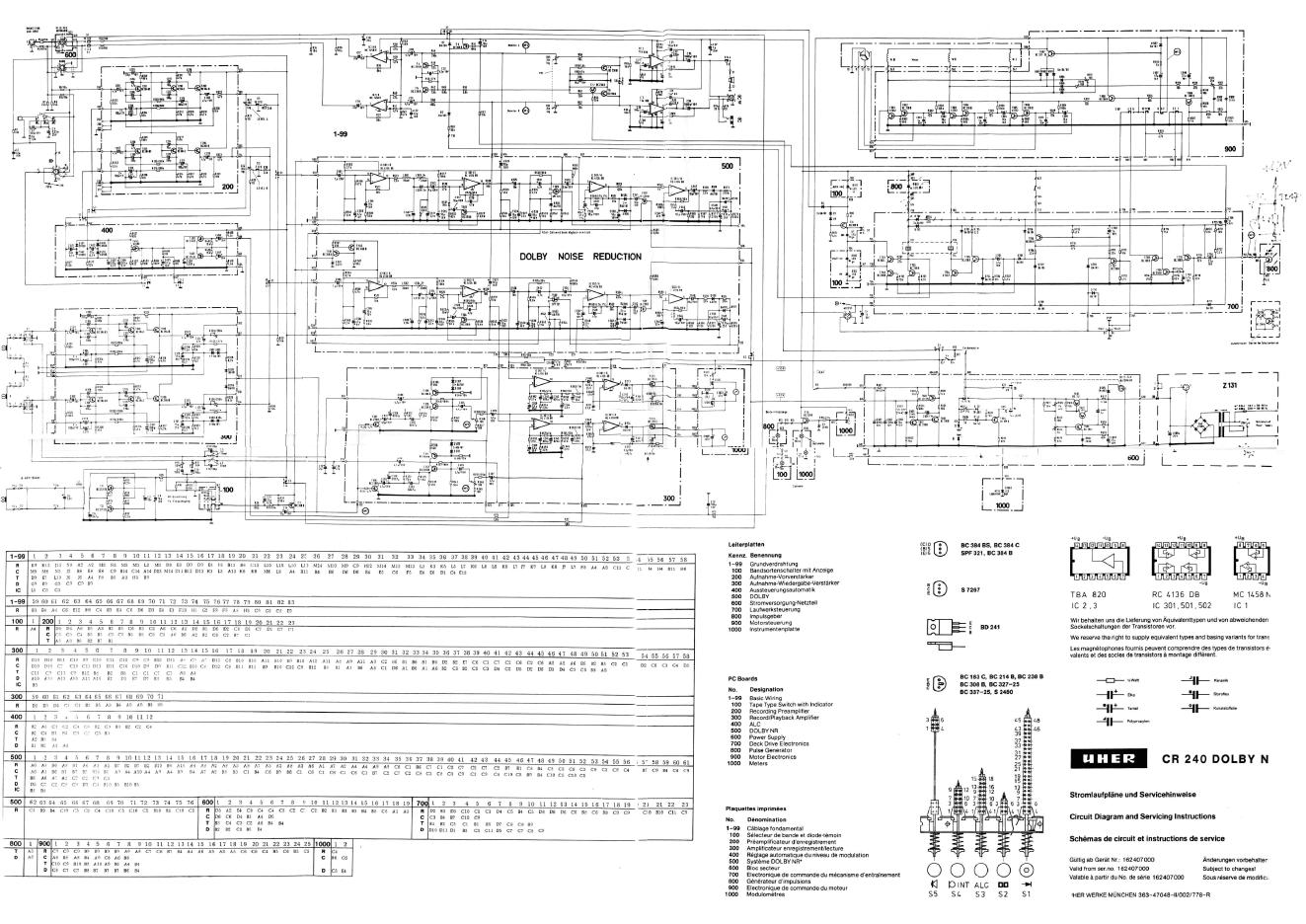 UHER CR-240磁带卡座维修电路图
