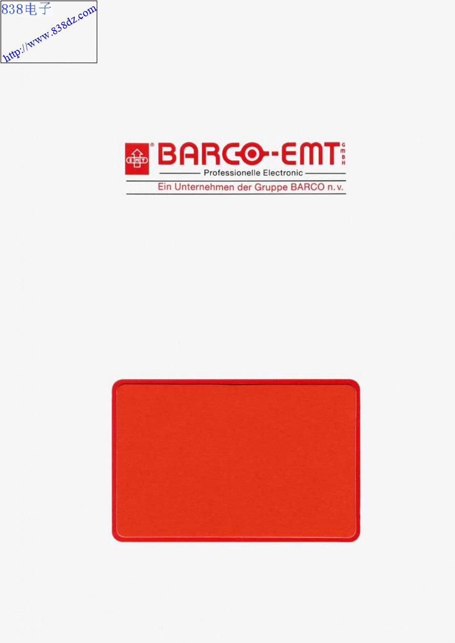 EMT BARCO 948电唱机1991年维修手册