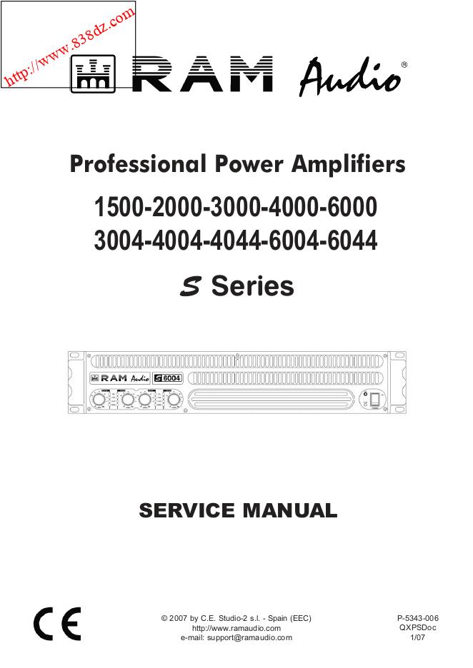 RAM S3004 S4004 S4044功放维修手册