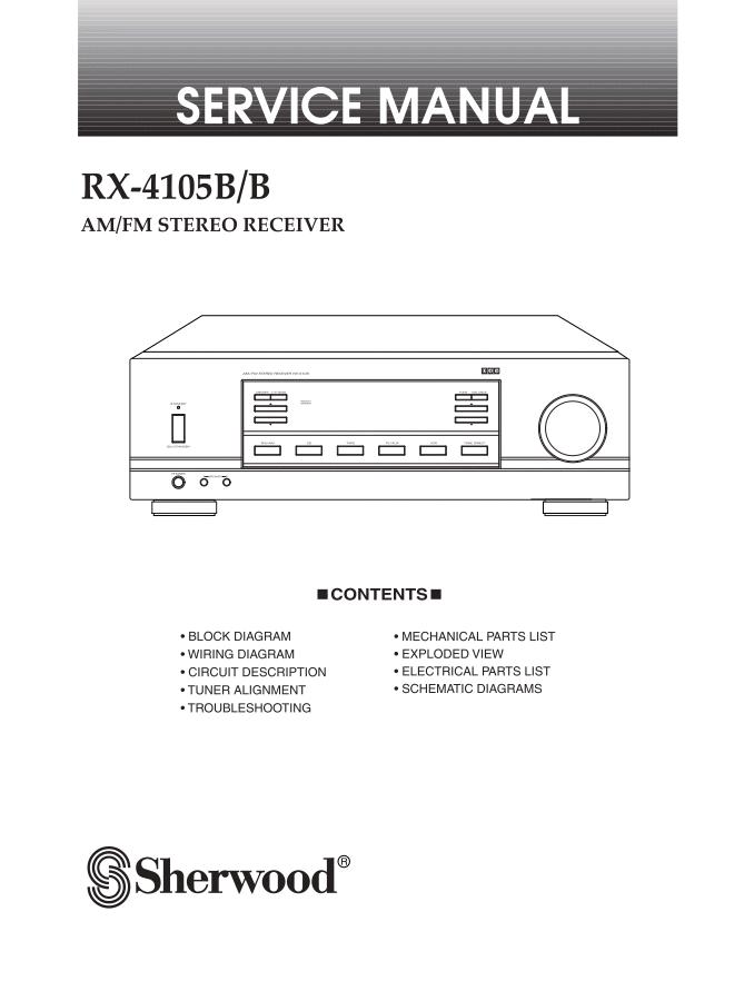 狮龙 sherwood RX-4105B/B功放维修手册