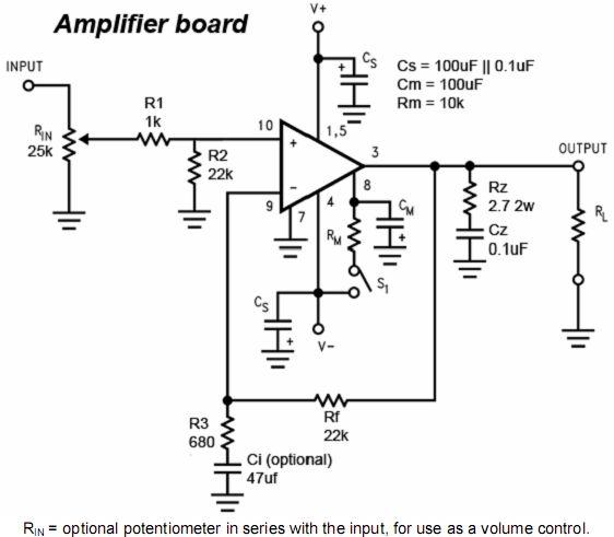 lm3886典型的应用电路