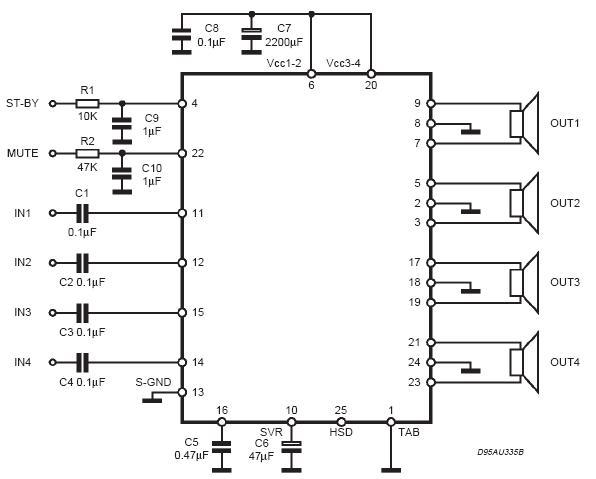 tda7384a功放电路图纸原理图