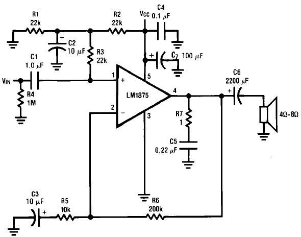 制作lm1875应用功放电路图纸原理图