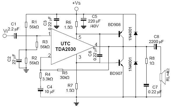 tda2030功放电路图