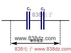 Capacitors in series diagram