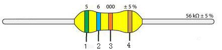 四色环电阻阻值