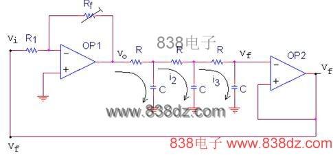 rc移相振荡器电路-移相振荡器电路图-相位移振荡器-rc