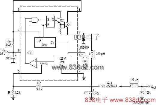 mc34063中文资料及应用实例(转)