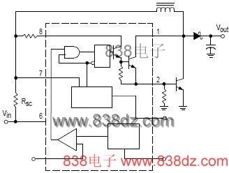 mc34063中文资料应用原理-升压电路芯片-引脚图功能
