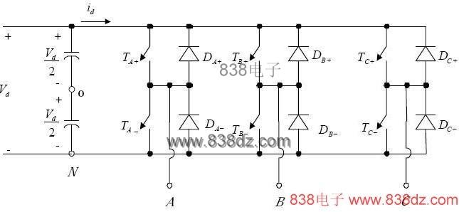其波形与单相全桥式逆变器采用脉波宽度调变单极性切换者类似.