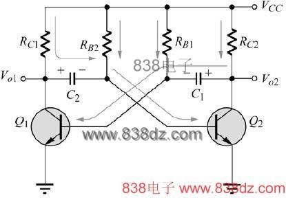 无稳态多谐振荡器电路-ne555无稳态振荡器电路图