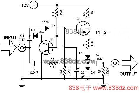 音频自动压缩电路