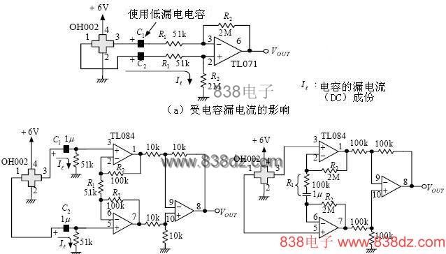 霍耳传感器的输出用于ac电压的放大电路
