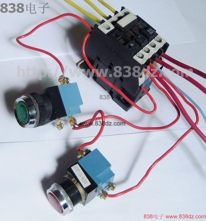 交流接触器实物接线