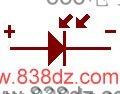 光敏<a href=http://www.838dz.com/e/search/result/?searchid=13898 target=_blank class=infotextkey>二极管</a>符号