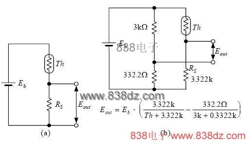 热敏电阻的基本接线电路