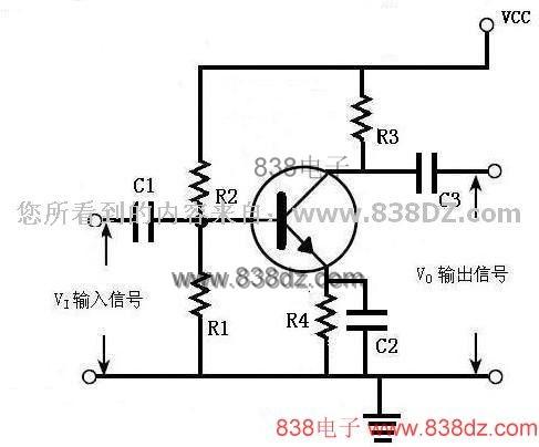 三极管放大电路-晶体三极管基本放大原理-电路图-共