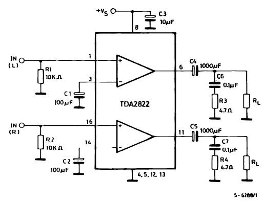 图1:tda7822双声道接